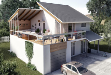Relaxing terrace in a modern house