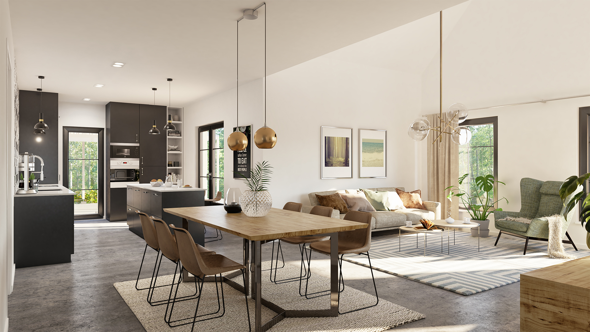 Scandinavian home with modern and stylish elements