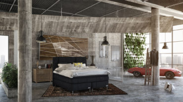 Industrial style loft with an artistic touch
